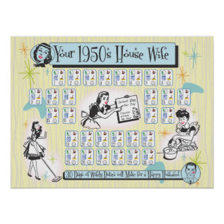 Your 1950s House Wife Poster