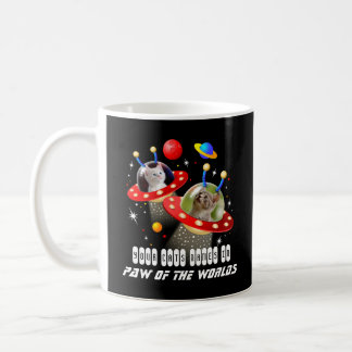 Your 2 Cats in an Alien Spaceship UFO Sci Fi Film Coffee Mug