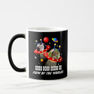 Your 2 Cats in an Alien Spaceship UFO Sci Fi Film Magic Mug