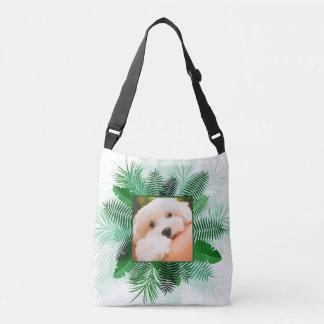 Your 2 Photos in Palm Leaf Frames custom bags