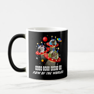 Your 3 Cats in an Alien Spaceship UFO Sci Fi Film Magic Mug