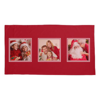 YOUR 3 PHOTOS custom  pillowcases