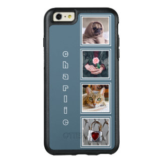 YOUR 4 INSTAGRAM PHOTOS & NAME color OtterBox iPhone 6/6s Plus Case