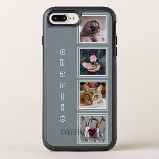 YOUR 4 INSTAGRAM PHOTOS & NAME color OtterBox Symmetry iPhone 8 Plus/7 Plus Case
