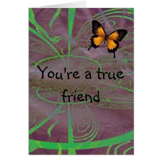 Your a true friend card