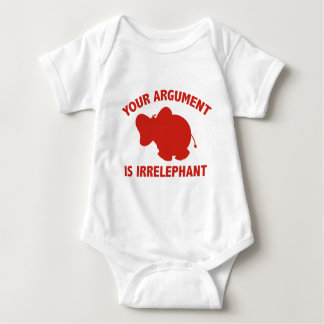 Your Argument Is Irrelephant Baby Bodysuit