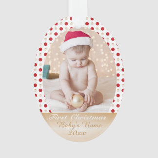 Your Baby's First Christmas- custom photo memorie