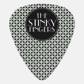 Your Band Black Damask Guitar Pick