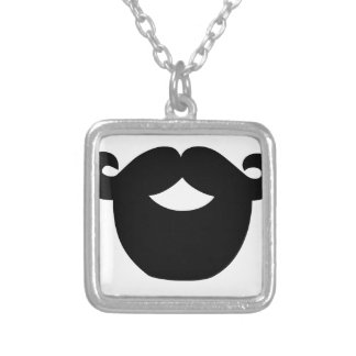 your beard is good silver plated necklace