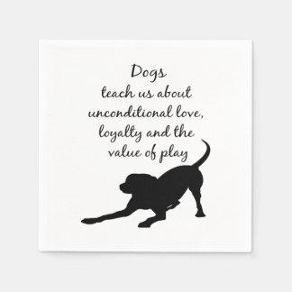 Your Best Friend Inspirational Pet Dog Quote Art Disposable Napkin
