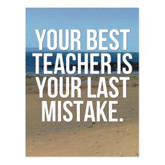 Your Best Teacher Quote Postcard