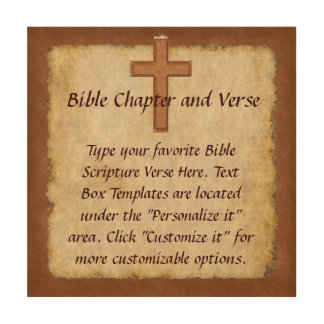Your Bible Verse Wall Art, Christian Wood Art