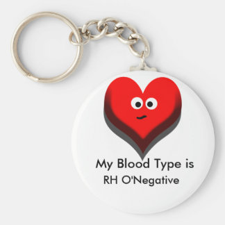 Your Blood Type Keychain