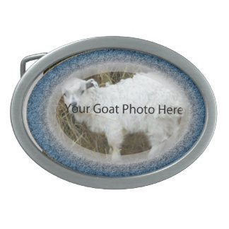 YOUR Blue Silver Goat Photo Here  Belt Buckle