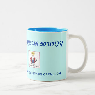 YOUR BOUNTY COFFEE MUG, WITH AVATAR Two-Tone COFFEE MUG