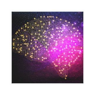 Your Brain on Bitcoin Canvas Print