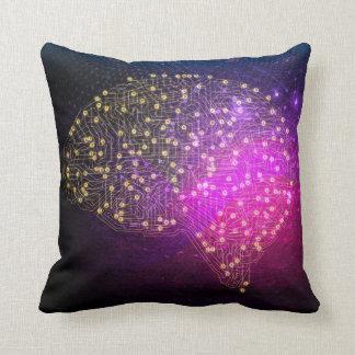 Your Brain on Bitcoin Throw Pillow