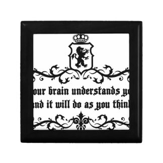 Your Brain Understands You Medieval quote Gift Box