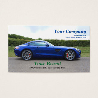 Your Brand Blue Car Business Card