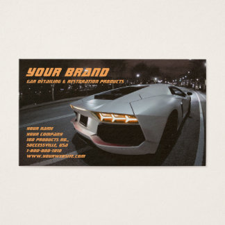 Your Brand White Car Business Card