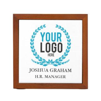 Your Business Logo | Job Title Custom Desk Organizer