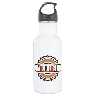 Your Business Logo Water Bottle White