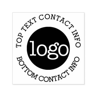 Your Business Logo with Contact Information Self-inking Stamp