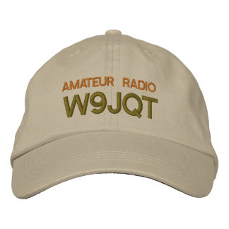 YOUR CALL SIGN ON EMBROIDERED HAT