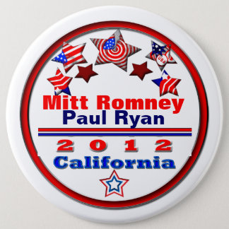 Your Candidate California 6 Inch Round Button