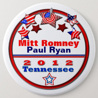 Your Candidate Tennessee 6 Inch Round Button