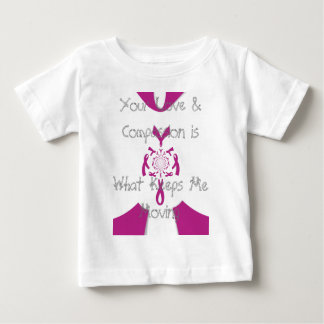Your care love and compassion Cancer Ribbon design Baby T-Shirt
