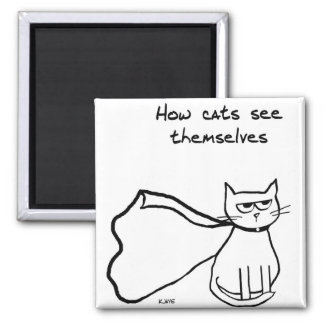 Your Cat the Superhero - Funny Cat Gift Magnet