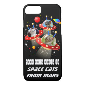 Your Cats in an Alien Spaceship UFO Sci Fi Film iPhone 7 Case