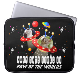 Your Cats in an Alien Spaceship UFO Sci Fi Film Laptop Sleeve