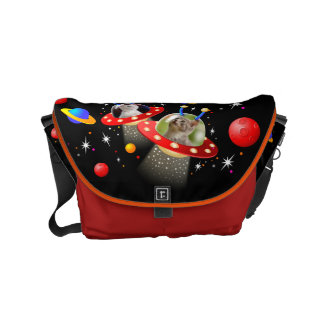 Your Cats in an Alien Spaceship UFO Sci Fi Scene Commuter Bags