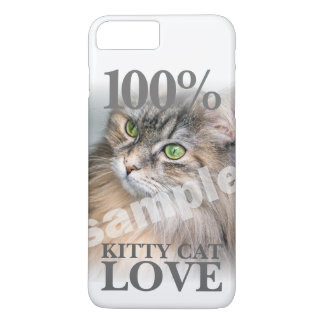 Your Cat's Photo 100% Kitty Cat Love iPhone 8 Plus/7 Plus Case