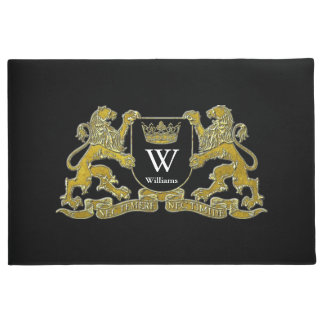 Your Coat of Arms Monogram and Color Doormat