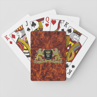 Your Coat of Arms Your Monogram and Name Playing Cards