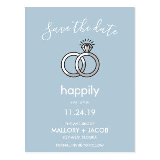 Your Color Choice Happily Ever After Save the Date Postcard