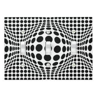 Your Color or Black and White Op Art Light Switch Cover