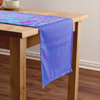 Your Color with Blue Corfu Short Table Runner