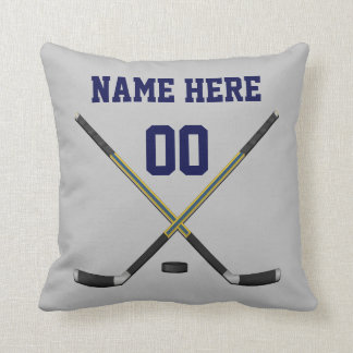 Your COLORS and TEXT Custom Hockey Pillows