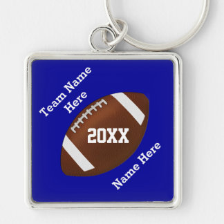 Your Colors and Your Text Football Keychains