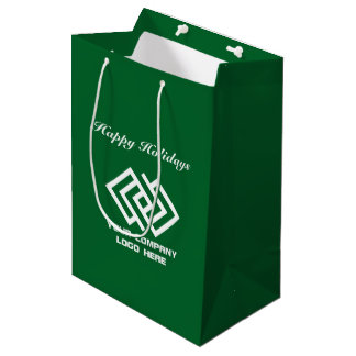 Your Company Holiday Party Logo Gift Bag Medium G