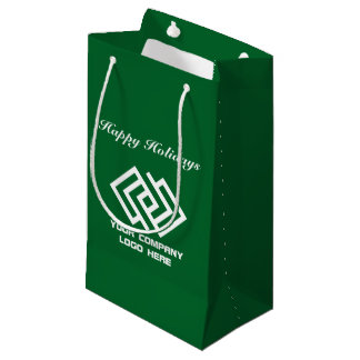 Your Company Holiday Party Logo Gift Bag Small G