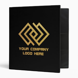 Your Company Logo Binder Black