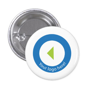 Your Company Logo Easy Template 1 Inch Round Button