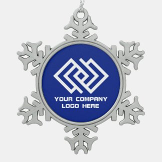 Your Company Logo Holiday Ornament Blue SF