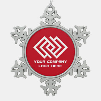 Your Company Logo Holiday Ornament Red SF