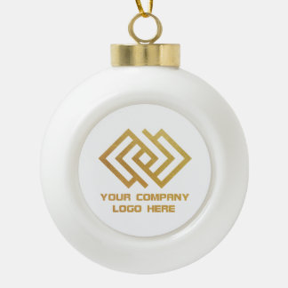 Your Company Logo Holiday Ornament White Crm